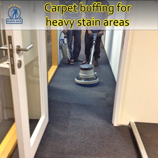 Carpet buffing